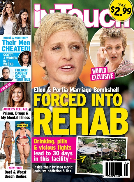 Ellen DeGeneres And Portia de Rossi Divorce Avoided After Portia Forced Into Rehab! (PHOTO)