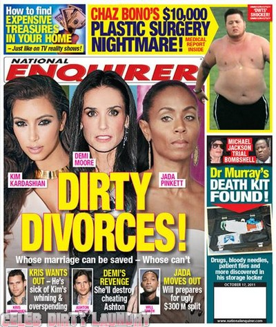 National Enquirer: Dirty Divorces! - Photo