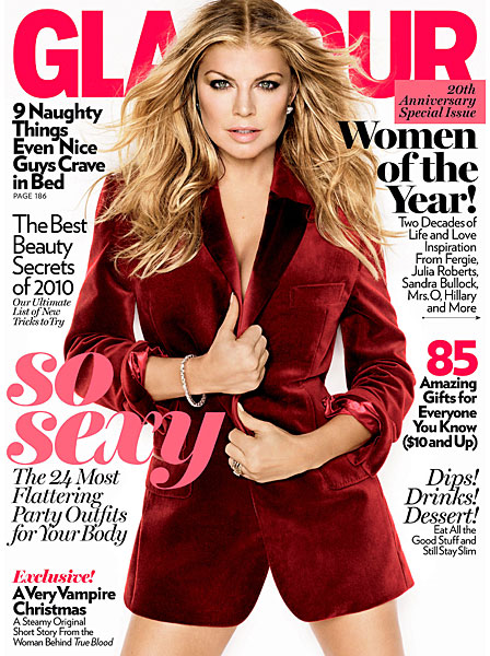 Fergie Covers Glamour December 2010