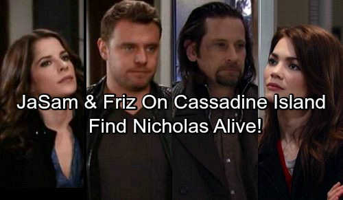 General Hospital Spoilers: JaSam and Friz Go To Cassadine Island For Jake Answers, Find Nicholas Alive
