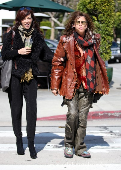 Steven Tyler Leaves Urth Cafe With His Girlfriend Erin Brady Today - Photos