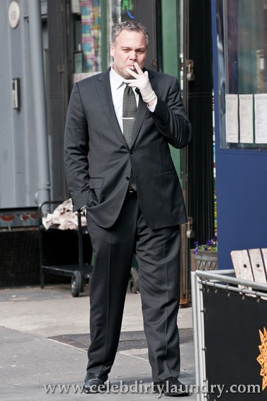 Vincent D'Onofrio smoking a cigarette (or weed)