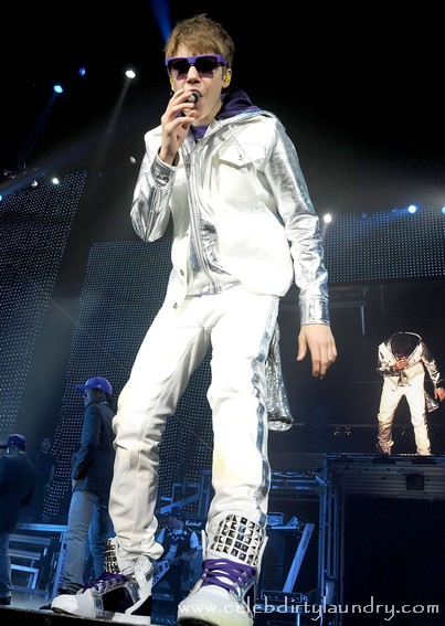 Justin Bieber performing live at The O2 Dublin Ireland