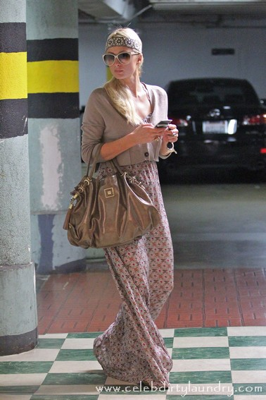 Paris Hilton Channels her Inner Hippy Shopping In Beverly Hills - Photos