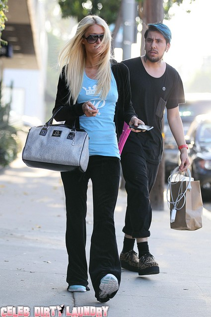Paris Hilton leaving Galvin Benjamin Salon After Getting Her Hair Done - Photos