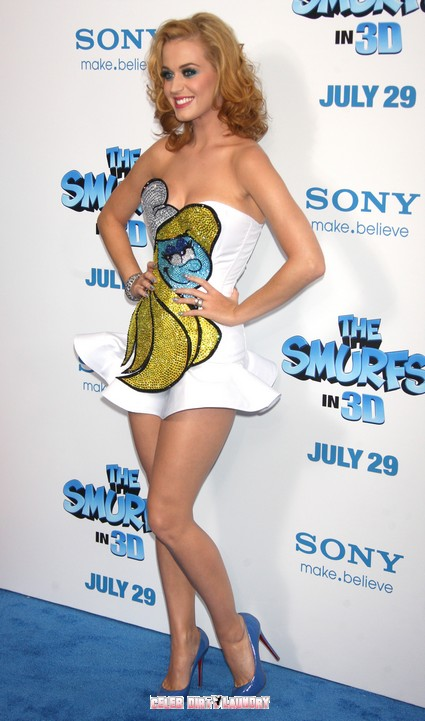 Katy Perry At 'The Smurfs' World Premiere In NYC - Photos