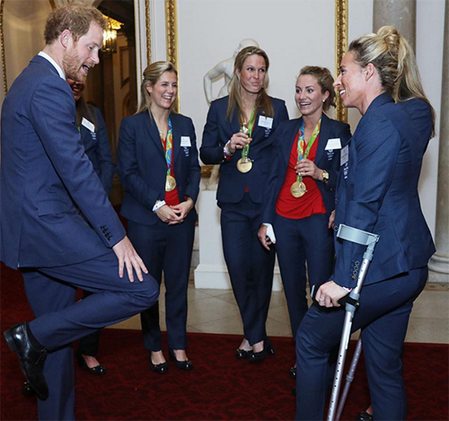 Prince Harry Smitten By Georgie Twigg: Olympic Gold Medalist Turns On The Charm At GB Heroes Reception?
