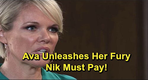 General Hospital Spoilers: Ava's Fury Unleashed – Nikolas Pays the Price for Exploiting Kiki's Memory