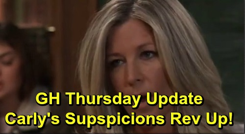 General Hospital Spoilers: Thursday, November 7 Update – Carly's Suspicions Rev Up – Josslyn Dilemma for Jax – Nina at Nathan's Grave