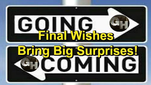 General Hospital Spoilers: Comings and Goings – Devastating Loss Brings a GH Return – Final Wishes Bring Big Surprises