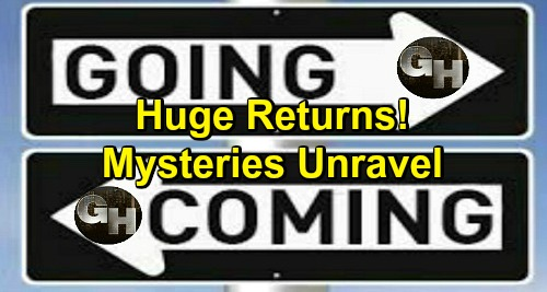 General Hospital Spoilers: Comings and Goings – Huge Comebacks Ahead – Mysteries Unravel, Shocking Discoveries