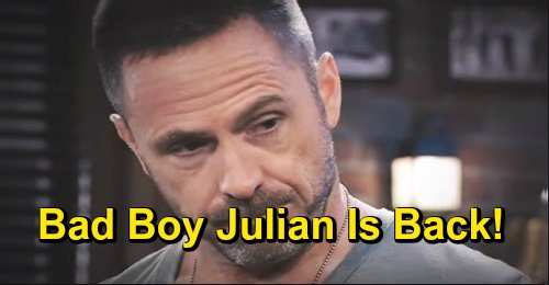 General Hospital Spoilers: Bad Boy Julian Back Thanks to Kim's Betrayal, So Long 'Charlie' – Temptation for Alexis, Danger for Liesl