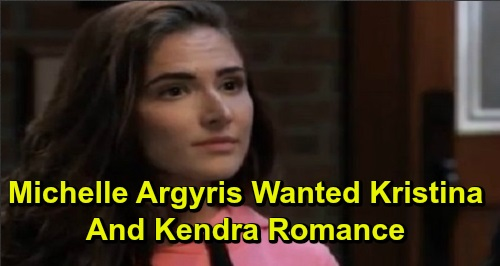 General Hospital Spoilers: Michelle Argyris Wanted Kristina Romance for Kendra – GH Star Reveals Her Soapy Kiss Wish