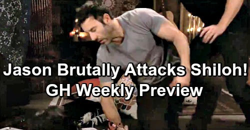 General Hospital Spoilers: Weekly Preview, May 7-10 - Jason's Brutal Attack On Shiloh - Jax and Sonny's Tension Mounts
