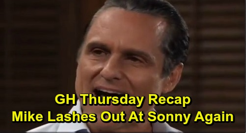 General Hospital Spoilers: Thursday, December 12 Recap - Nelle Taken To GH - Lucas Breathing On His Own - Mike Lashes Out At Sonny Again