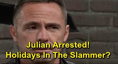 General Hospital Spoilers: Julian Arrested, Jordan Throws the Book at Murderer - Spends Christmas In Jail?