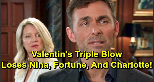 General Hospital Spoilers: Valentin's Triple Blow on New Year's Eve – Loses Nina, His Fortune and Charlotte All in One Miserable Night?