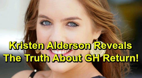 General Hospital Spoilers: Kristen Alderson Reveals The Truth About GH Return as Starr Manning