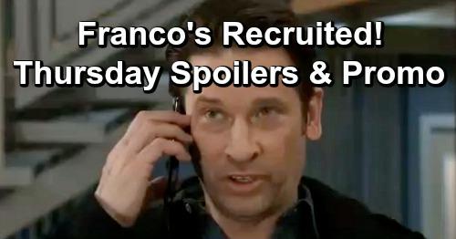 General Hospital Spoilers: Thursday, January 31 – Jordan Recruits Franco – Alexis Buys Shiloh's Strategy – Valentin's Peter Plea