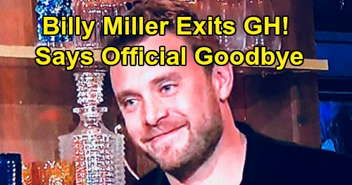General Hospital Spoilers: Billy Miller Exits GH as Drew Cain - Says Official Goodbye to Fans