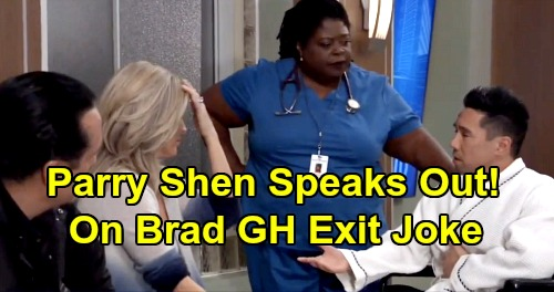 General Hospital Spoilers: Parry Shen Speaks Out About Brad Cooper Exit Joke – GH Star Admits Social Media Blunder