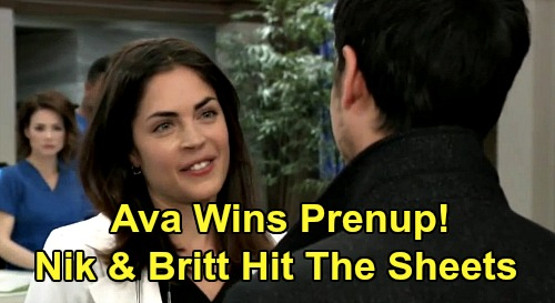 General Hospital Spoilers: Ava About to Win Prenup Infidelity Award - How Long Before Nikolas and Britt Hit the Sheets?