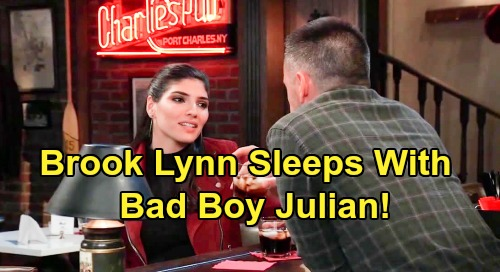 General Hospital Spoilers: Brook Lynn Sleeps With Bad Boy Julian – Emotional Support Grows Into Love?