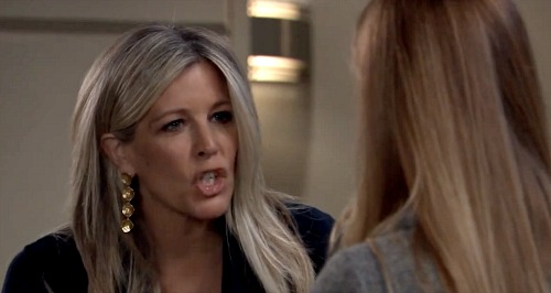 General Hospital Spoilers: Laura Wright Reveals She Was Sick During Roof Scene - Carly Fighting With Nelle