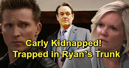 General Hospital Spoilers: Kidnapped Carly Trapped in Ryan's Trunk – Oblivious Ava Rides with 'Kevin,' Elopes to Niagara Falls