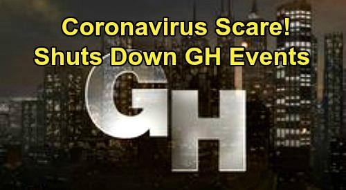 General Hospital Spoilers: Coronavirus Covid-19 Scare Shuts Down March GH Fantasy Fan Events – Postponed Until October 2020