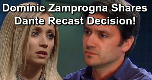 General Hospital Spoilers: Dominic Zamprogna Reveals Dante Recast Decision – Shares GH Return Filming Details