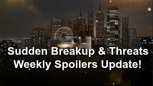 General Hospital Spoilers: Week of December 31 to January 4 – Unsettling Threats, Surprising Encounters and a Sudden Breakup