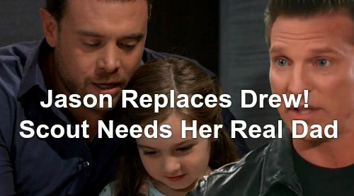 General Hospital Spoilers: Drew Cain Replaced By Jason Morgan as Scout's Dad - Billy Miller Fade-out For Steve Burton Divides GH Fans