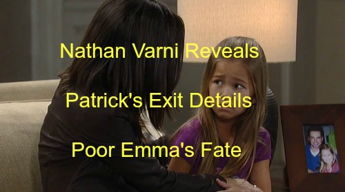 General Hospital (GH) Spoilers: Nathan Varni Reveals Jason Thompson Pre-Christmas Exit Details and Emma's Fate