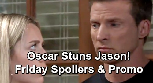 General Hospital Spoilers: Friday, April 26 – Michael Visits Hospitalized Sasha – Oscar Stuns Jason – Avery Puts Sonny on the Spot