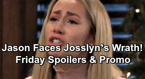 General Hospital Spoilers: Friday, December 21 – Jason Faces Josslyn's Wrath – Christmas Chaos at GH – More Trouble for Aiden
