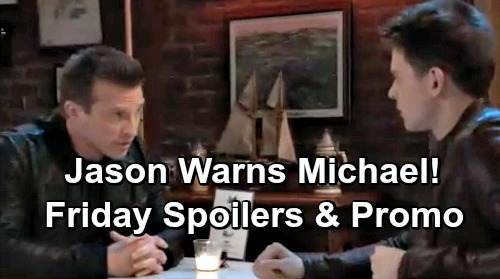 General Hospital Spoilers: Friday, March 15 – Sonny Faces Dante Shocker – Jason Warns Michael – Sam's Intense Shiloh Pressure