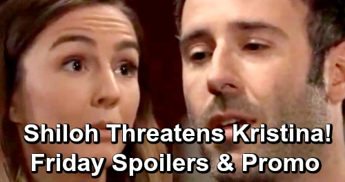 General Hospital Spoilers: Friday, May 10 – Kristina Wants Pledge Back, Shiloh Levels Threats –  Ava's Deadly Plans for Ryan