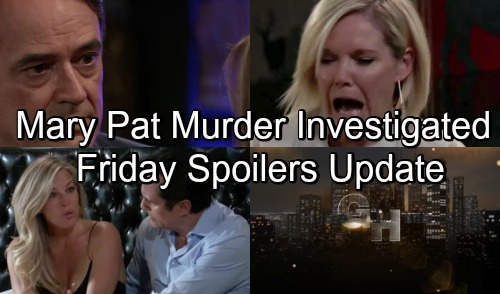 General Hospital Spoilers: Friday, November 2 Update – Ava and Chase Horrified - Mary Pat Murder Investigation Begins