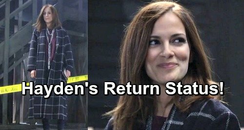 General Hospital Spoilers: Hayden Barnes Return Status Revealed - Has Rebecca Budig Been Contacted by GH?
