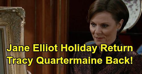 General Hospital Spoilers: Tracy's Return Shakes Up Quartermaine Family, ELQ Chaos Brewing – Jane Elliot Back December 2019