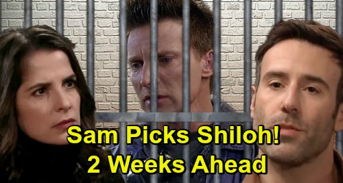 General Hospital Spoilers: 2 Weeks Ahead - Jason Beats Up Shiloh – Sam Abandons JaSam After Stone Cold Arrest