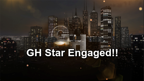 General Hospital Spoilers: GH Star Engaged - Fiancee Shows Off Engagement Ring