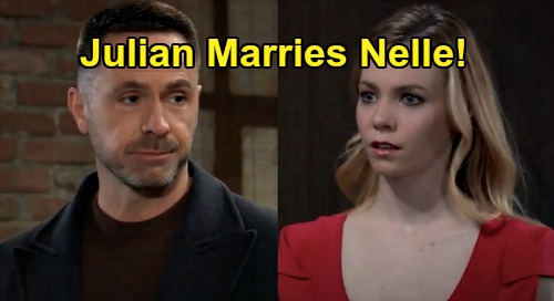 General Hospital Spoilers: Julian Becomes Nelle's Husband, Forced Marriage Before Custody Hearing – Mr. & Mrs. Jerome Go Public?