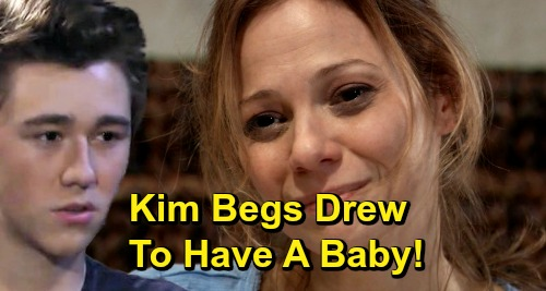 General Hospital Spoilers: Kim Begs Drew to Have a Baby, Give Oscar a Sibling