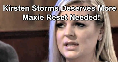 General Hospital Spoilers: Kirsten Storms Deserves Fresh Love Interest and Hot Story – Maxie Reset Needed