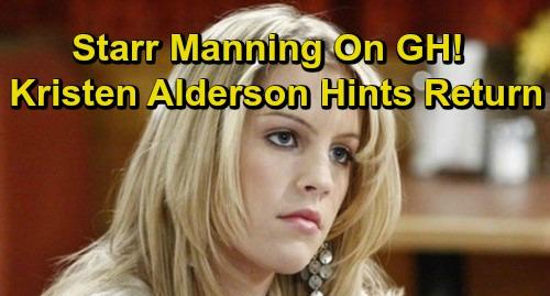 General Hospital Spoilers: Kristen Alderson Returns as Starr Manning - GH Star Teases Huge News?
