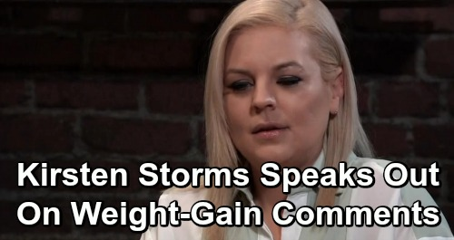 General Hospital Spoilers: Kirsten Storms Speaks Out Against Hateful Fans' Weight Gain Comments – GH Costars Offer Support