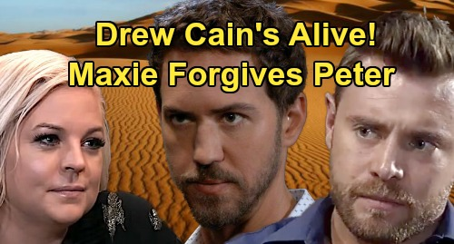 General Hospital Spoilers: Drew Cain's Alive, Murder Not What It Seems – Maxie's Hint Sets Up Peter's Forgiveness?
