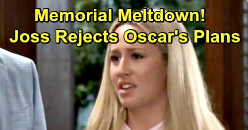General Hospital Spoilers: Brokenhearted Josslyn in Denial as Oscar's Burial Begins – Fights His Last Wishes from the Grave